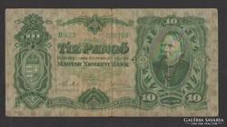10 pengő 1929.  SZÉP BANKJEGY!!