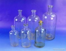 0F680 Régi gyógyszertári patika üveg 6 darab