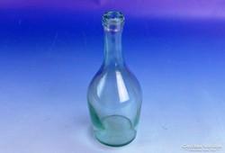 0F749 Antik fújt üveg palack 20 cm 3.5 dl
