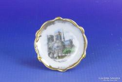 0F801 Régi Limoges kisméretű porcelán dísztányér