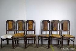 0F954 Antik szék garnitúra 6 darab felújítandó