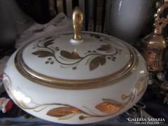 Arany díszítésű különleges régi bombonier (Bavaria)