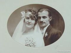 0G021 Régi GOSZLETH fotográfia esküvői fotó