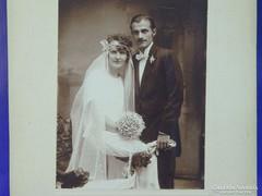 0G022 Régi GOSZLETH fotográfia esküvői fotó
