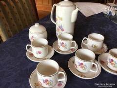 Hollóházi antik porcelán kávéskészlet