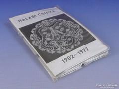 0G078 Halasi csipke 12db-os diakocka sor 1902-1977