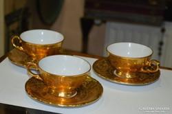 Porcelán kávéscsészék + aljak