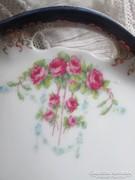 Antik rózsás zsúr tálca