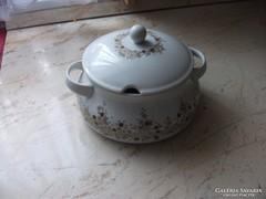 Antik porcelán leveses tál fedővel eladó!