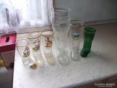 6 db üveg csizma poharat árulok, különböző méretben.