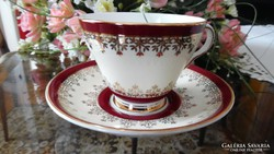 Royal Grafton angol kávés/teás duó krém/vörös/arany design