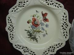 Angol fajansz pipacsos tányér
