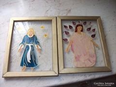 Antik vallásos üveg festmény eladó!