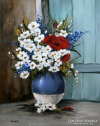 Full bouquet - oil painting