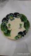 Szecessziós körmöcbányai tányér