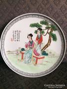 Kínai, Canton mintás tál - Qianlong Nian Zhi