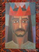 Bartovics József  Dózsa György 53x34 cm olaj-farost