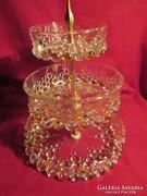 Emeletes üveg kínáló a fogója felül hiányzik!   05255