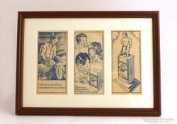 Vintage kép Maláta kávés számolócédulákkal