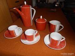 3 személyes hollóházi kávés készlet