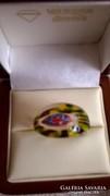 Millefiori Muránoi üveg gyűrű