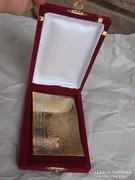 Korán plakett+díszdoboza aranyozott ezüstözött ajándéknak is