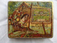 Antik, pléh egyiptomi szivarkás doboz
