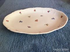 Zsolnay,barokk, kis virág mintás porcelán kínáló pecsenyés (29)
