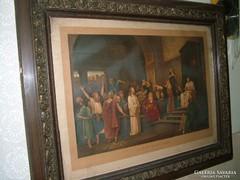 Munkácsy :Krisztus Pilátus előtt antik Francia litográfia