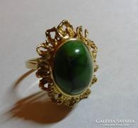 585 antik arany gyűrű arany drágakő malachit learazas