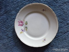Stadtlengfeld jelzéssel, virág mintás porcelán tányér (29)