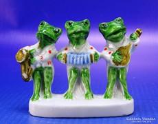 0B619 Antik WAGNER und APEL porcelán béka szobor