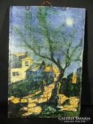 C218 Régi mázas cserépkép ismeretlen művész