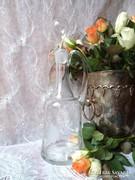 Csiszolt pillangós likőrösüveg
