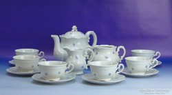 0G517 Régi Zsolnay porcelán teás készlet