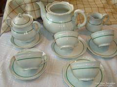 Zsolnay régi  teás készlet    hiányos