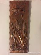 Spiáter bronz színű falidísz