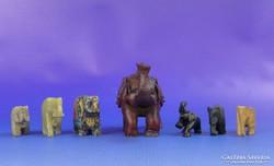 0F826 Szerencsehozó elefánt hét darab