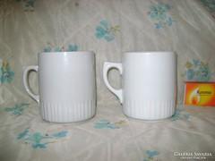 Régi Zsolnay, szoknyás teás csésze - két darab - együtt