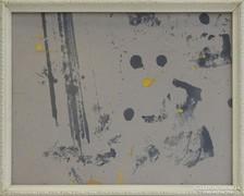 0H105 Régi fehér képkeret 27 x 35 cm