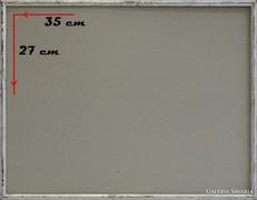 0H106 Régi ezüst színű képkeret 27 x 35 cm