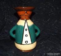 Városlődi Majolika figurális  Miska gyertyatartó