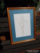 Jelzett grafika - balerina 2