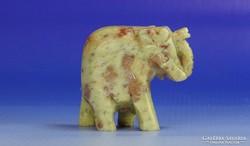0H295 Szerencsehozó márvány elefánt szobor