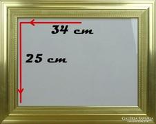 0G667 Modern arany színű képkeret 25 x 34 cm