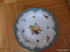 Herendi gyümölcs virág mintás tányér, CFR-ET fruit flowers