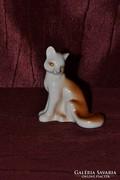 Orosz porcelán róka figura 01  ( DBZ0056 )