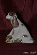 Orosz porcelán kutya figura  ( DBZ0056 )