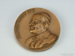 0G872 Jelzett bronz plakett JOANNES PAULUS PP II