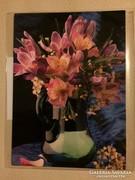 Virágos képeslap - postcard with flowers